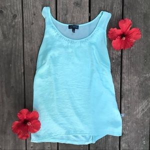 The Limited turquoise lace tank top